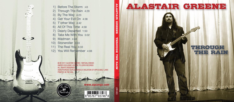 "Alastair Greene ""Through The Rain"" Record Cover"