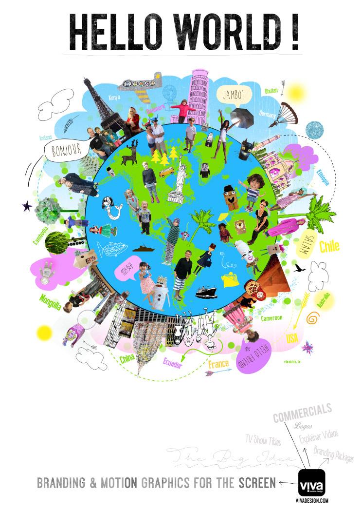 Hello World! Viva Kids TV Poster
