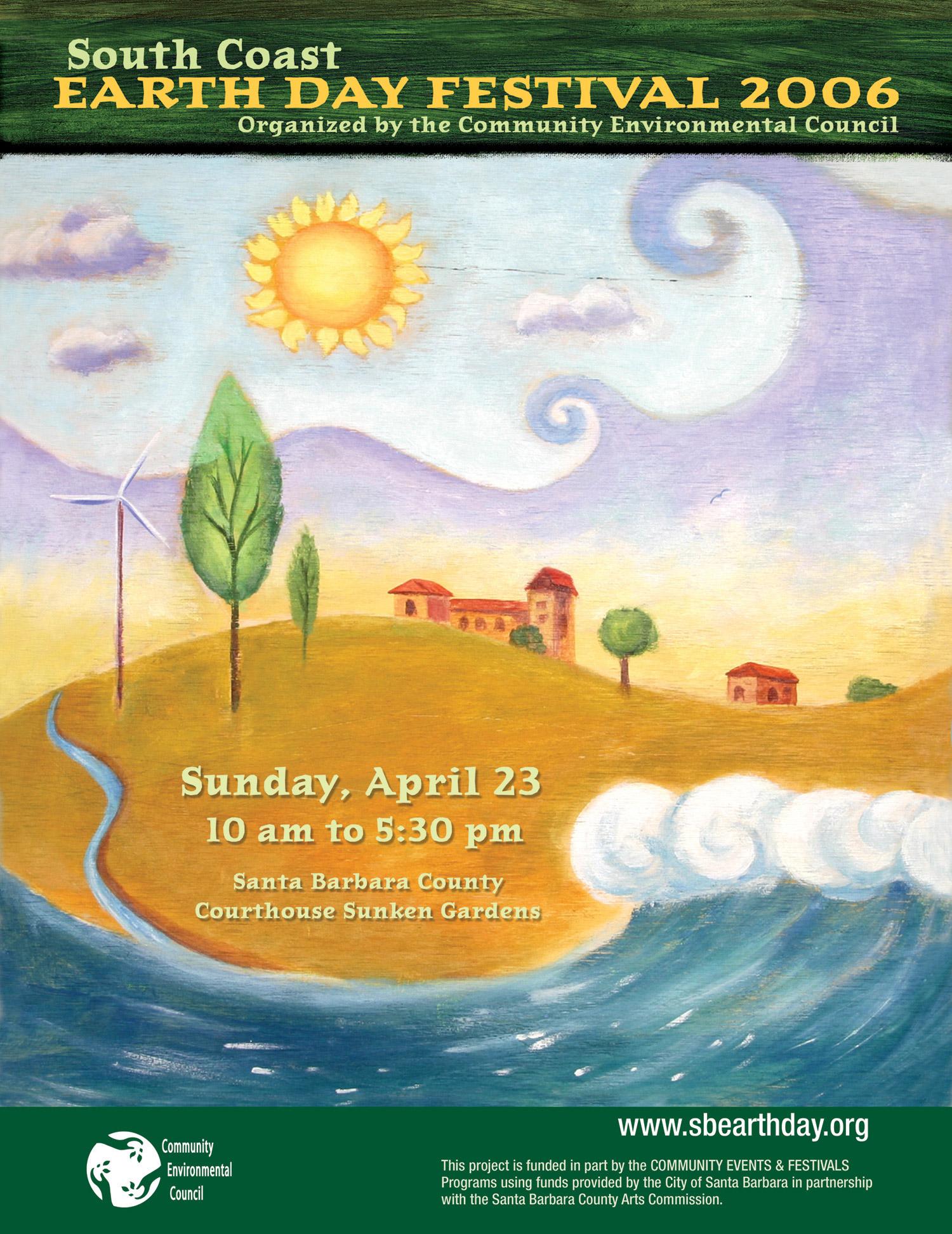 Santa Barbara Earth Day Festival Poster