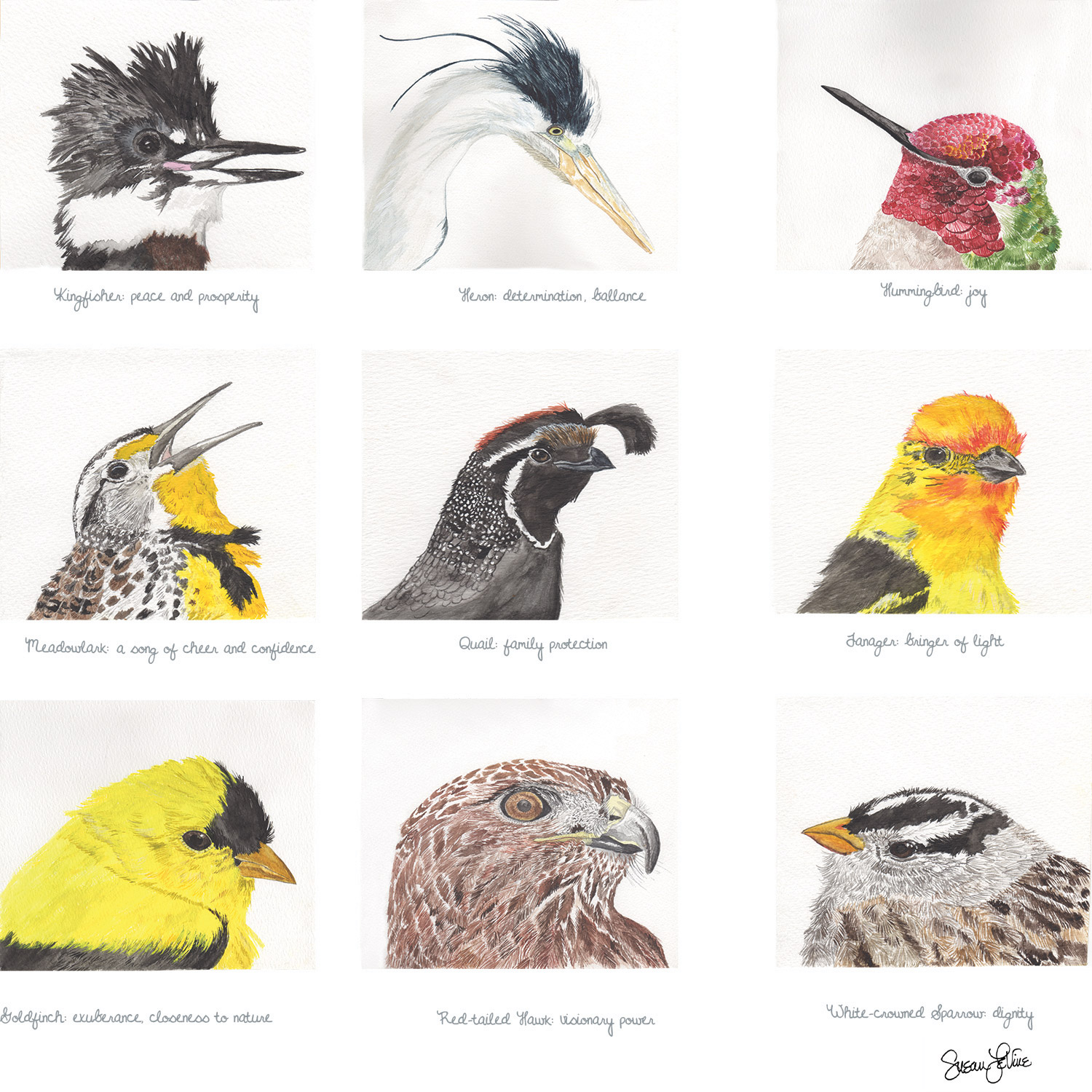 Large Bird Heads: National Stationery Show